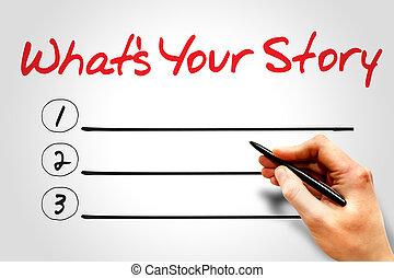 ποια βρίσκομαι , ιστορία , δικό σου
