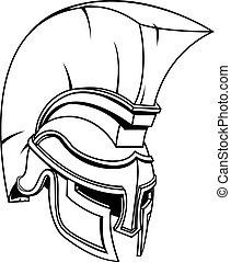 πολεμιστής , γενναίο και φιλεργό άτομο , κράνος , spartan, ή , gladiator