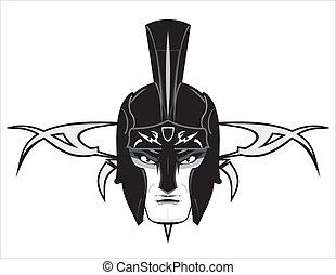 πολεμιστής , ρωμαϊκός , κεφάλι , γουρλίτικο ζώο
