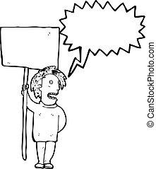 πολιτικός , διαμαρτυρία , γελοιογραφία