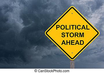 πολιτικός , καταιγίδα , εμπρός , δηλοποίηση αναχωρώ