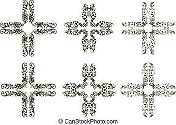 πολύφυλλος , σχεδιάζω , σταυρός , απεικόνιση
