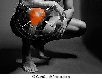 πονώ , γόνατο , στόχος
