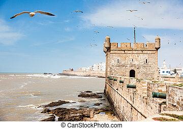 πορτογάλοs , castle., marocco:, essaouira