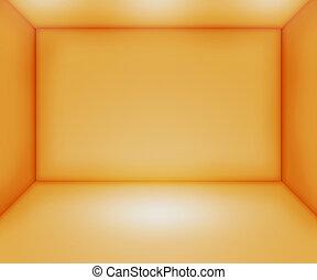 πορτοκάλι , άδειο δωμάτιο , backdrop