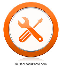 πορτοκάλι, εικόνα, εργαλεία, υπηρεσία, σήμα