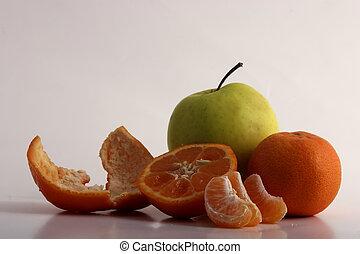 πορτοκάλι , μήλο