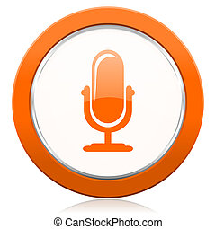 πορτοκάλι, μικρόφωνο,  podcast, εικόνα, σήμα