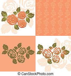 πορτοκάλι , τριαντάφυλλο , ταπετσαρία , εικόνα