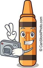 πορτοκάλι , φωτογράφος , σχήμα , μολύβι , γελοιογραφία