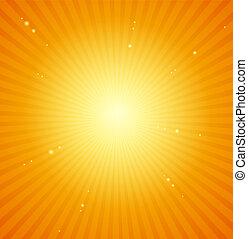 πορτοκάλι , φόντο. , ευφυής , μικροβιοφορέας , ξαφνική δυνατή ηλιακή λάμψη