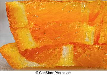 πορτοκάλι , macro , κομμάτια