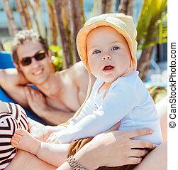 πορτραίτο , αγόρι , παραλία , χαριτωμένος , μικρός