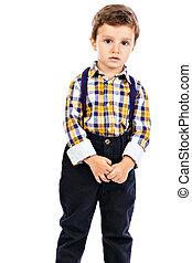 πορτραίτο , από , ένα , λατρευτός , μικρό αγόρι
