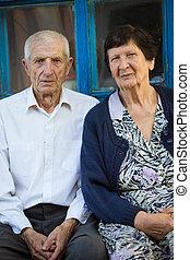 πορτραίτο , από , ηλικιωμένος ανδρόγυνο