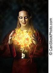 πορτραίτο , από , yong , εξαίσιος γυναίκα , - , νεράιδα
