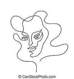 πορτραίτο , αφαιρώ , γυναίκα
