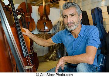 πορτραίτο , βιολοντσέλο , άντραs
