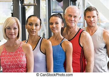 πορτραίτο , γυμναστήριο , άντρεs , γυναίκεs