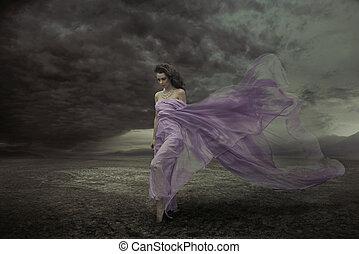 πορτραίτο , γυναίκα , ελκυστικός προς το αντίθετον φύλον , ...