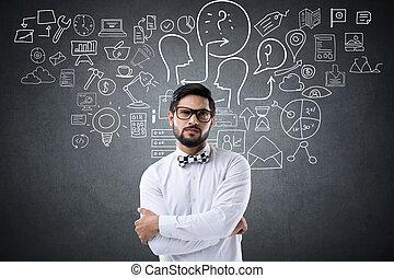 πορτραίτο , επιχειρηματίας , απεικόνιση
