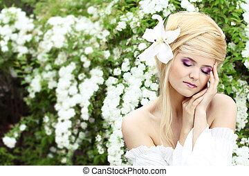 πορτραίτο , μοντέλο , όμορφος , γυναίκα