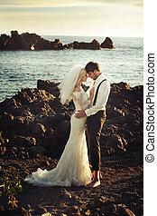 πορτραίτο , νέος , newlyweds , ρομαντικός