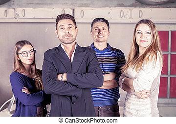 πορτραίτο , σύνολο , businesspeople , νέος