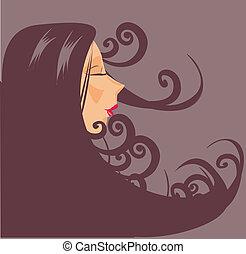 πορτραίτο , closeup γυναίκα , μικροβιοφορέας