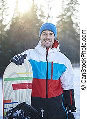 πορτραίτο , snowboard , άντραs