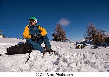 πορτραίτο , snowboarder