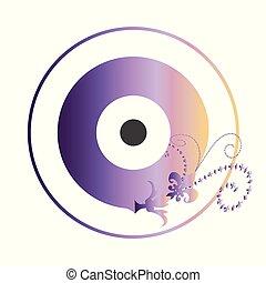 πορφυρό , μικροβιοφορέας , μάτι , καλλιτεχνικός , κακό