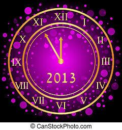 πορφυρό , ρολόι , νέο έτος