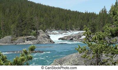 ποτάμι , αναμμένος άρθρο βουνήσιος , από , νορβηγία