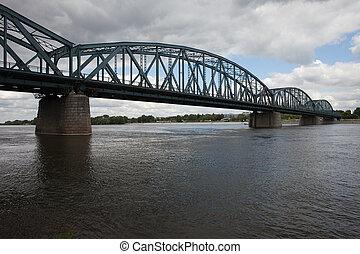 ποτάμι , γέφυρα , torun, vistula, pilsudski