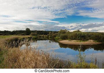 ποτάμι , θαμπάδα , τοπίο