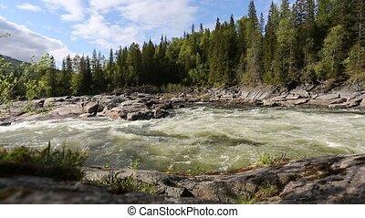 ποτάμι , μέσα , νορβηγία