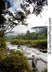 ποτάμι , με , απαγχόνιση , γέφυρα