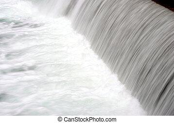 ποτάμι , με , καταρράχτης