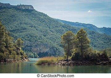 ποταμός γραφική εξοχική έκταση