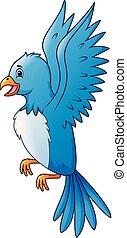 πουλί , ουρανόs , γελοιογραφία , μπλε , ιπτάμενος