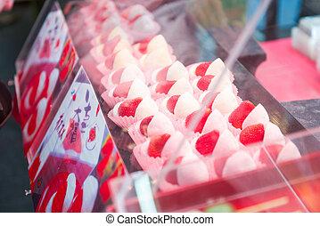 πουλώ , φράουλα , moji, αγορά , υπέροχος
