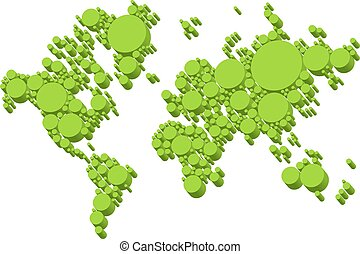 πράσινο , ανθρώπινη ζωή και πείρα αντιστοιχίζω , 3d , αποσιωπητικά , μικροβιοφορέας