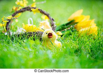 πράσινο , αυγά , γρασίδι , πόσχα