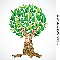 πράσινο , γενική ιδέα , δέντρο