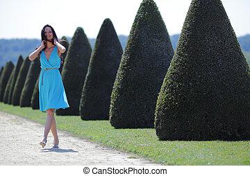 πράσινο , γυναίκα , πάρκο