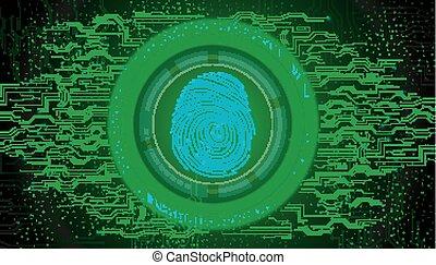 πράσινο , δακτυλικό αποτύπωμα