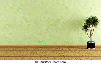 πράσινο , δωμάτιο , αδειάζω