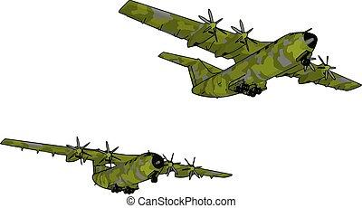 πράσινο , εικόνα , άσπρο , γριά , μεγάλος , βομβαρδιστικό , μικροβιοφορέας , φόντο.