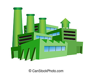 πράσινο , εργοστάσιο